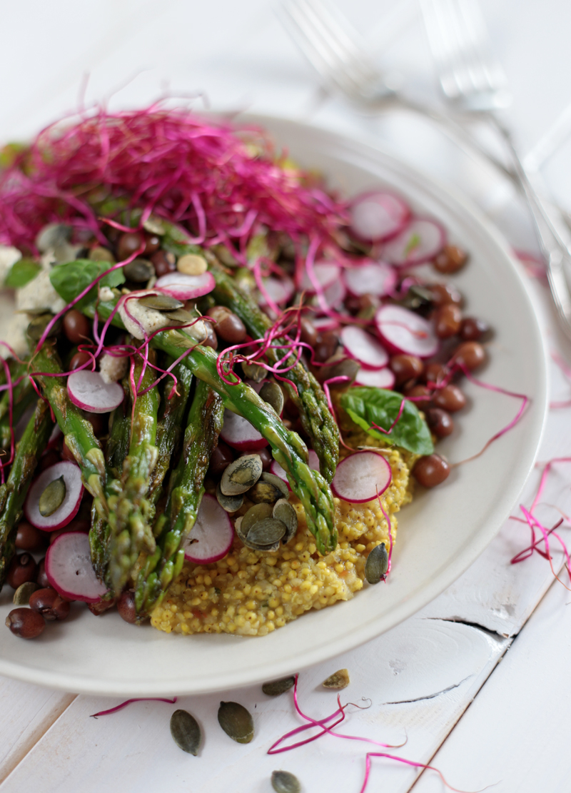 Asparagus and Millet Salad