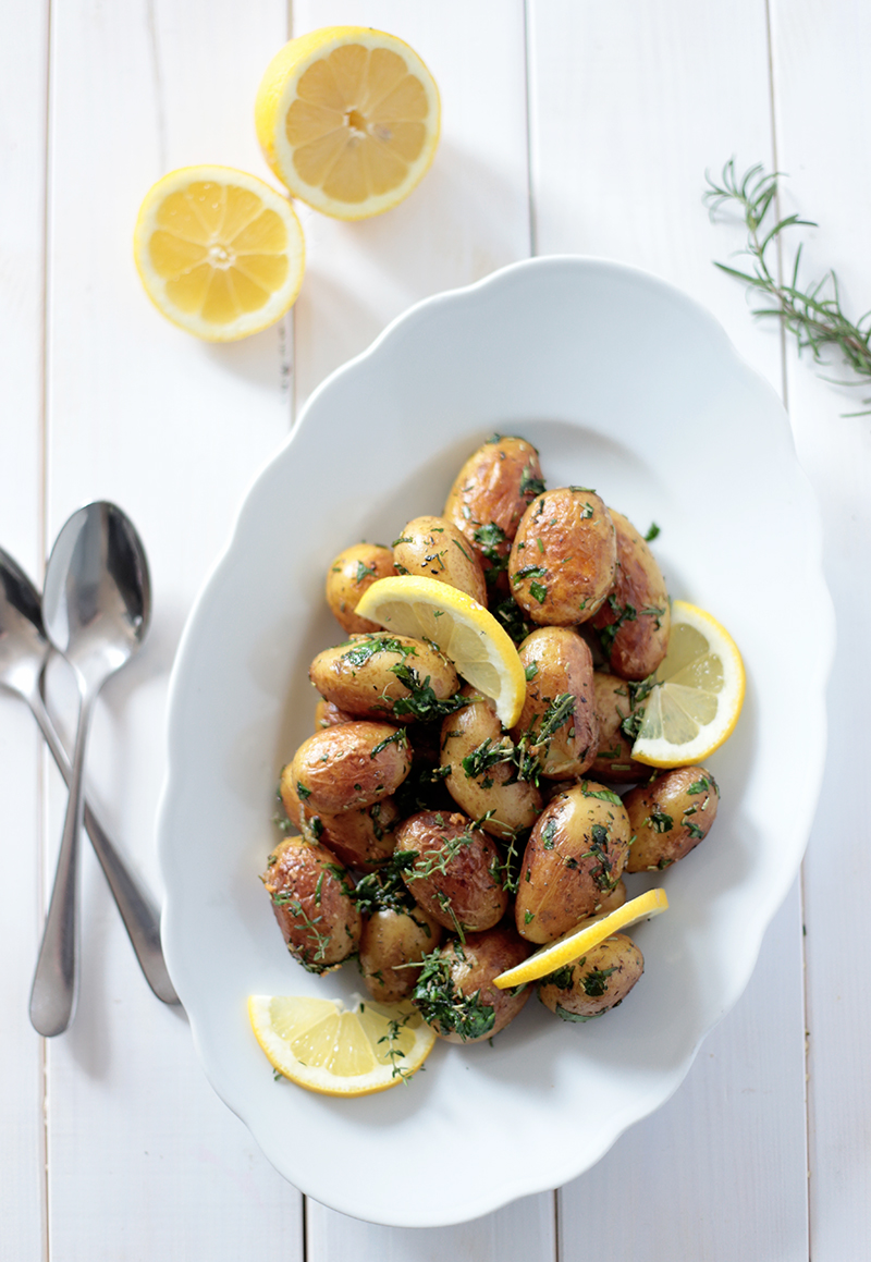 New Potatoes with Lemon and Herbs