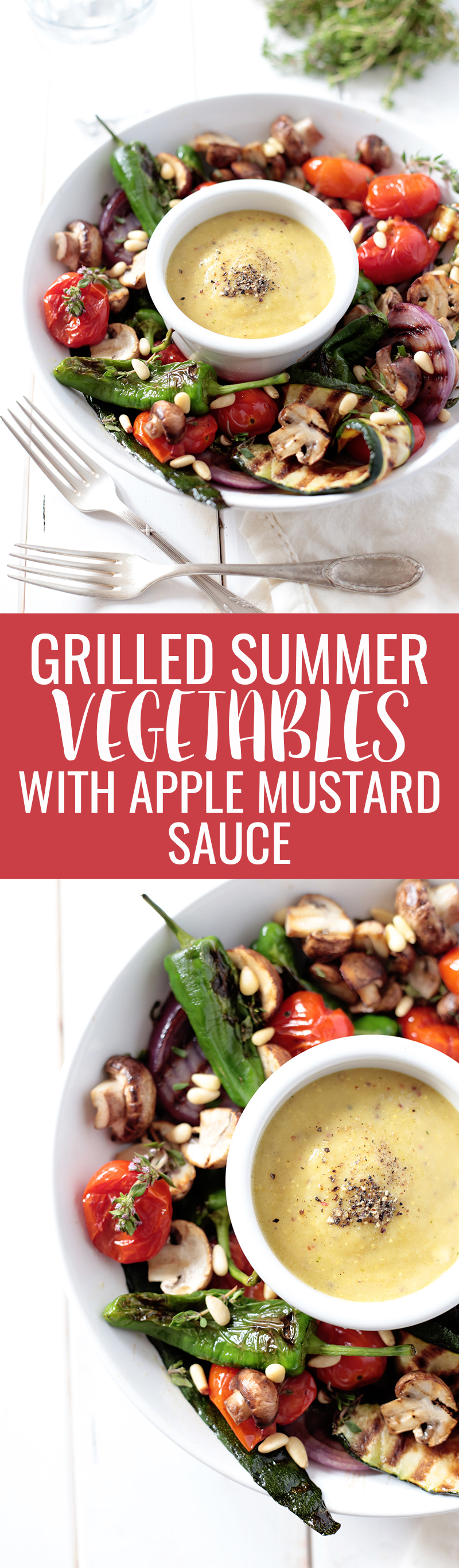 Grilled Summer Vegetables with Apple Mustard Sauce