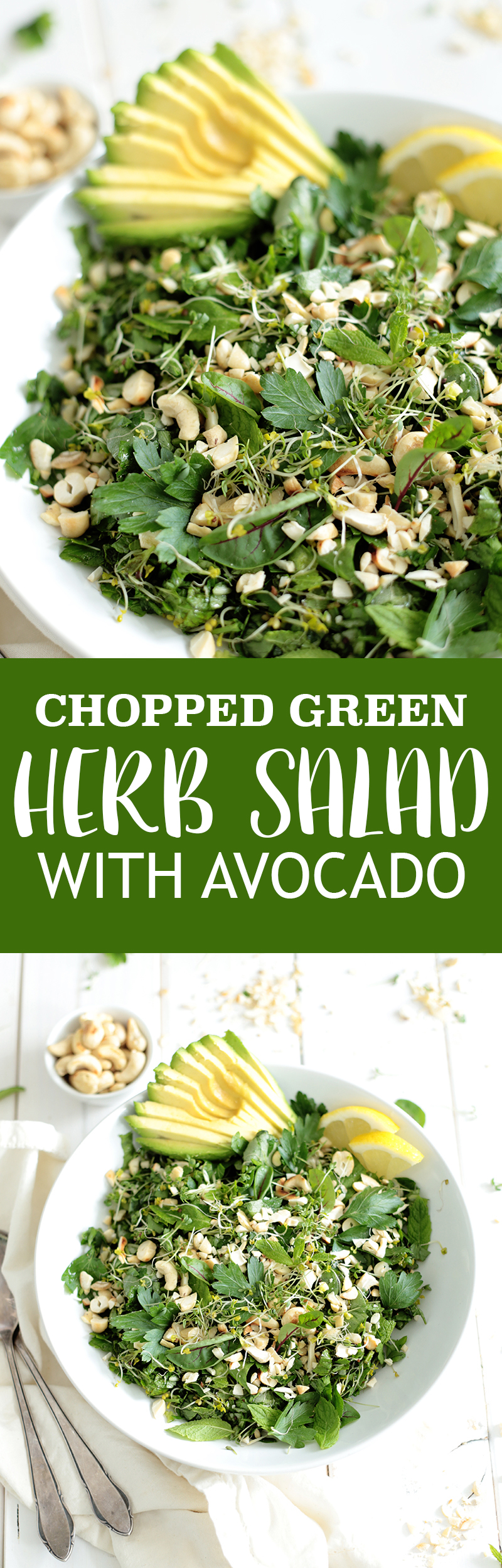 Green Herb Salad with Avocado