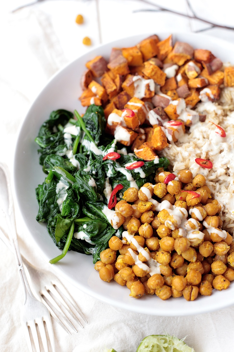 Best of 2015 - Chickpea, Spinach and Sweet Potato Brown Rice Bowl
