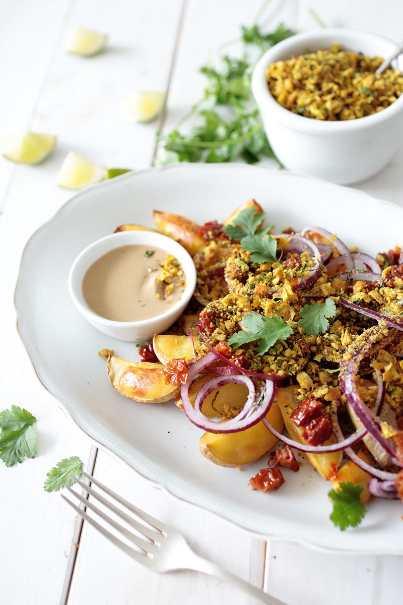 Potato and Falafel Crumble Salad