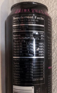 Note this can from my collection says 2 Servings per Container and uses a Supplement Facts panel - this product has been reclassified as a beverage so current products feature a Nutrition Facts Panel, and the label has been updated to say 1 Serving per Container. Note all the Green-Eyed Insight here applies to both the previous and the current product.