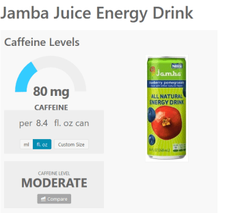 https://www.caffeineinformer.com/caffeine-content/jamba-juice-energy-drink