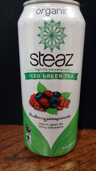 Steaz Organic Blueberry Pomegranate Iced Tea Energy Drink of the Month