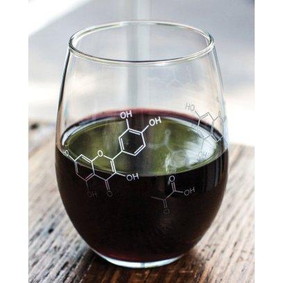Wine Molecule Wine Glass [Cognitive Surplus on Amazon]