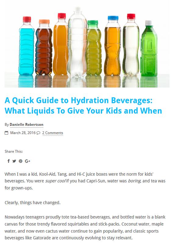 TheScientificParent The Scientific Parent hydration gatorade pedialyte kid thirsty