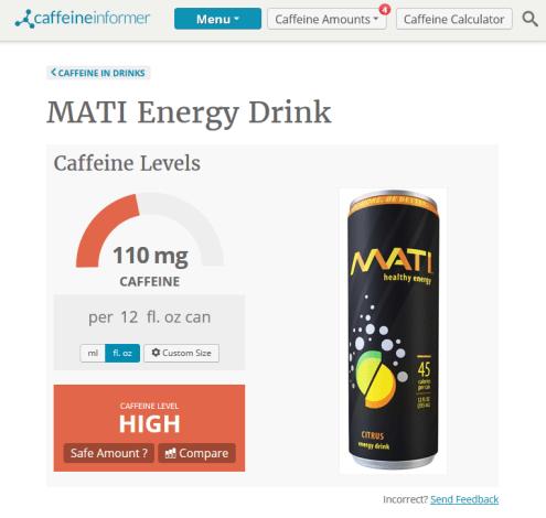 Caffeine in Mati