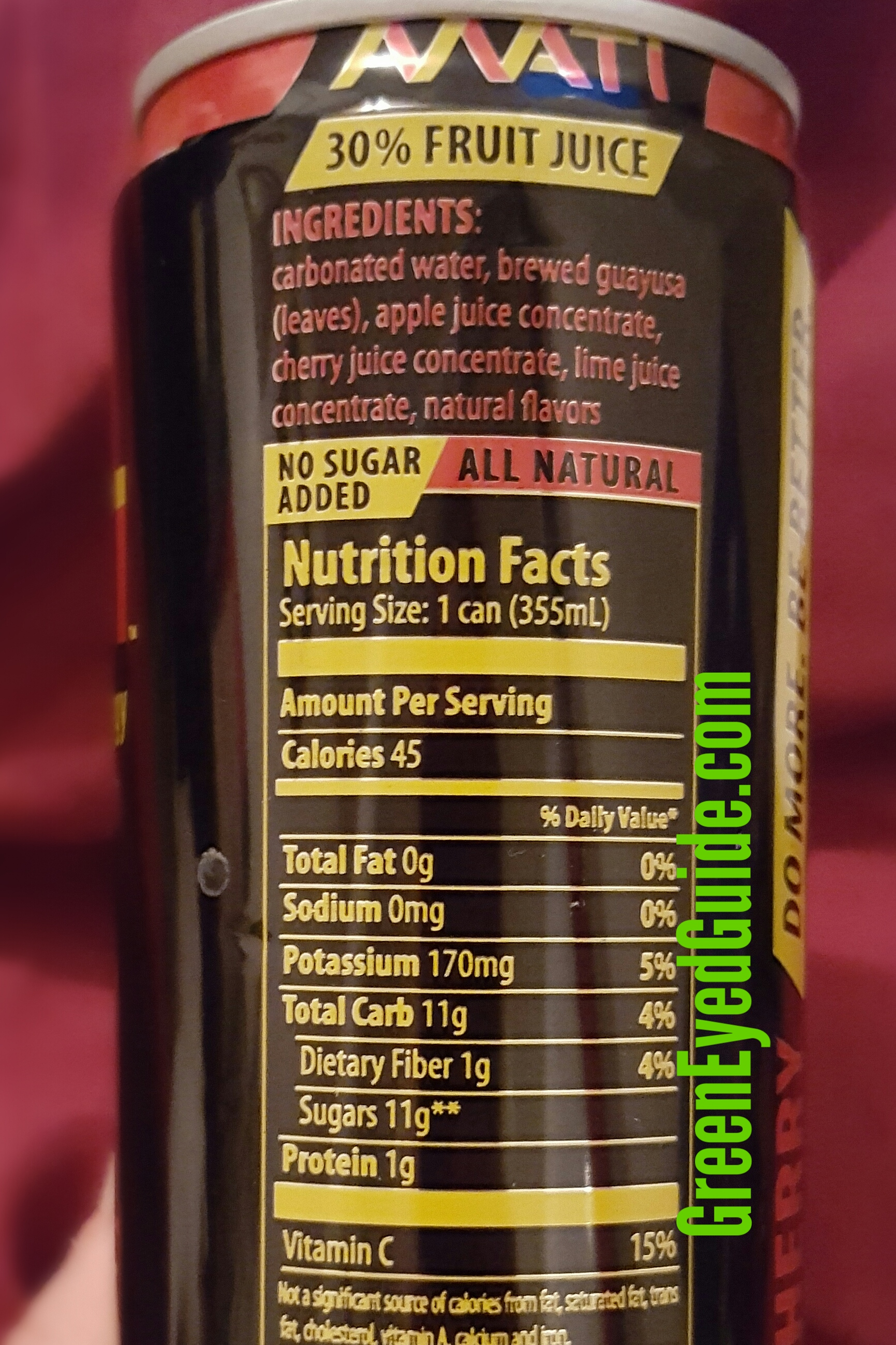 Greeneyedguide Mati Nutrition Facts