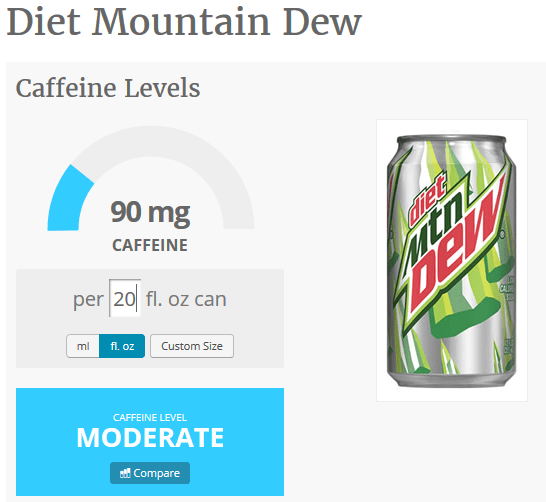 diet mountain dew 20 oz