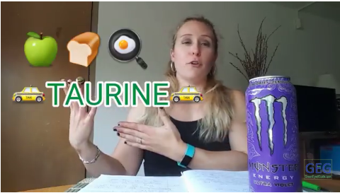 What do TAURINE and CARNITINE do? Science Behind Monster Purple [YouTube]