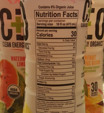 CEO energy drink Facts Panel - GreenEyedGuide