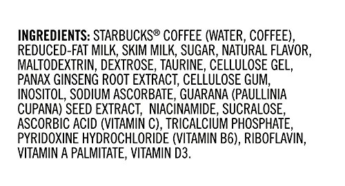 ingredients in Starbucks Doubleshot energy