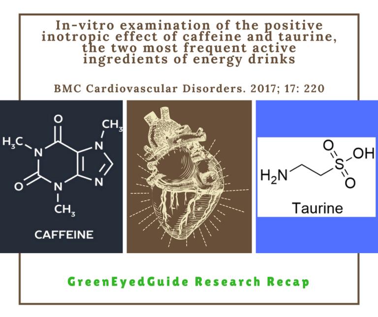 caffeine and taurine on myocardium
