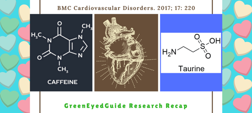 How do caffeine and taurine affect the heart muscle (myocardium)?