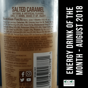 Caffe Monster Ingredient Facts Label