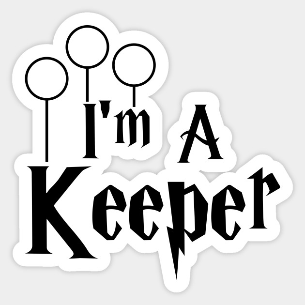 KEEPER pun harry potter with Quidditch rings
