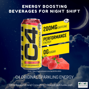What should I drink on night shift - energy boosting beverage C4 Original Sparkling Sugar Free