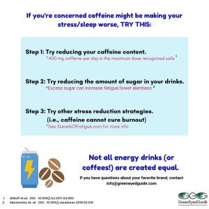 tips for energy drinks sleep stress