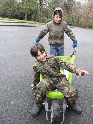 Wheelbarrow rides