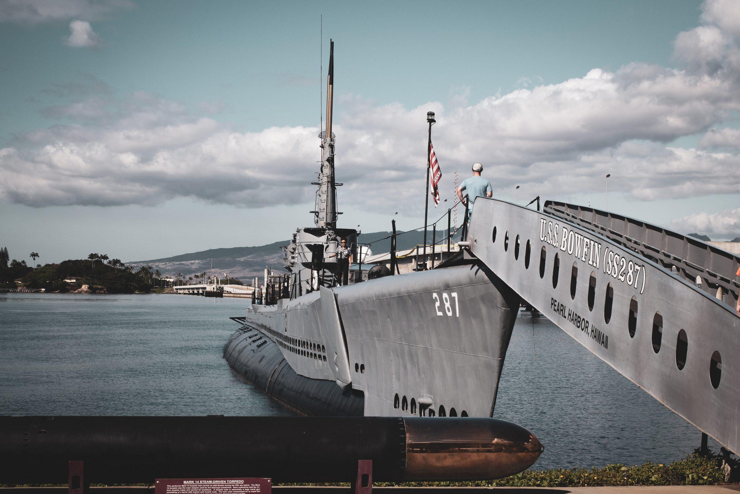 warship at dock