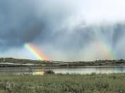 "Refection double rainbow . ""Pantani Longarimi (SR) 2014"