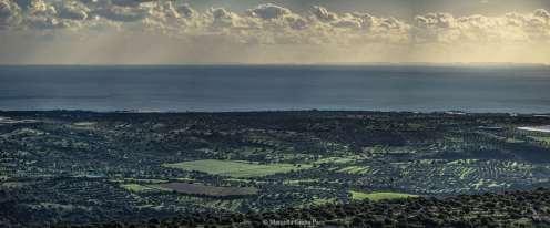 Panoramica della visuale completa sull'arcipelago visto da C.da Pizzillo (Ragusa)