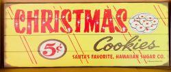 Christmas Cookies Wood Sign
