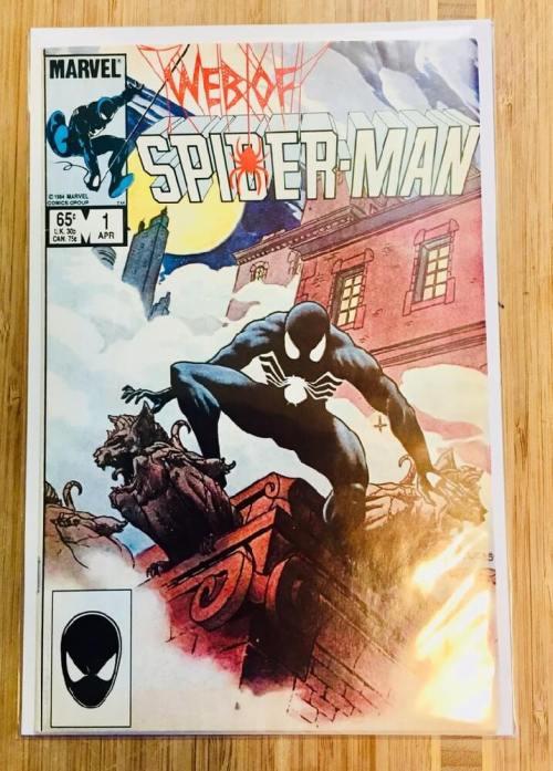 web of spiderman comic book cover