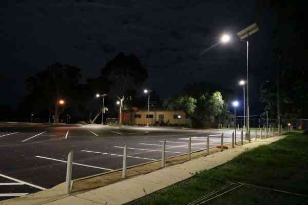 solar car park lighting Wagga Wagga NSW