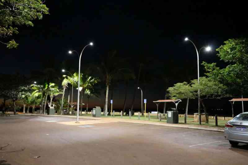 street lighting of car park with 50w sentinel