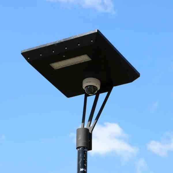 solar powered camera on Stealth solar light