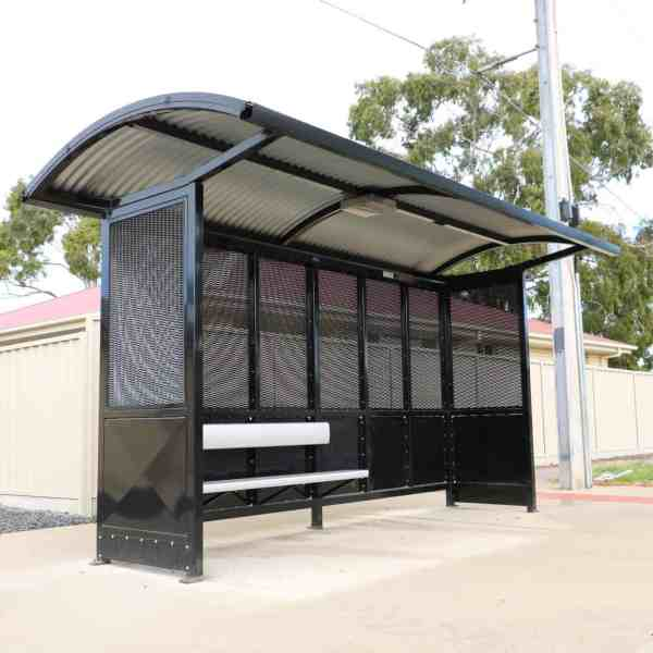 bus stop solar powered light