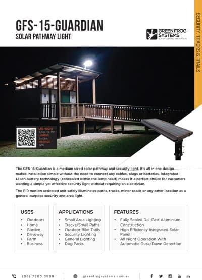 GFS-GUARDIAN-15 solar security ight brochure