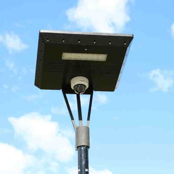 solar camera on Stealth solar light