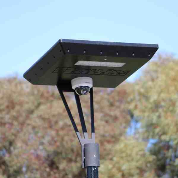solar CCTV camera on Stealth solar light