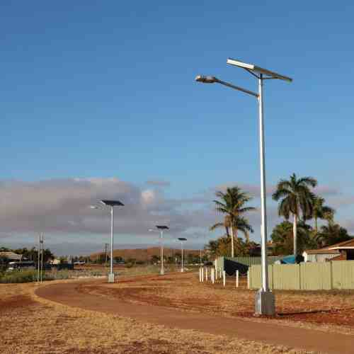 solar powered street lighting cycloine rated design