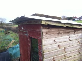re-roofed, in need of drying and painting
