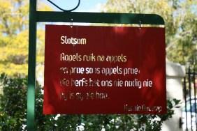 Poetry at the Digterstuin, Breytenbach Sentrum Wellington.