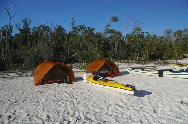 Beach Camp on Picnic Key, Everglades National Park