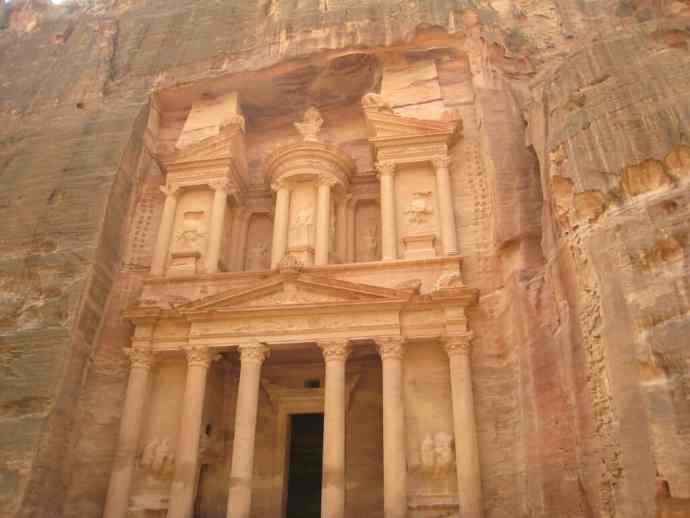 The World Renowned Petra Treasury in Jordan