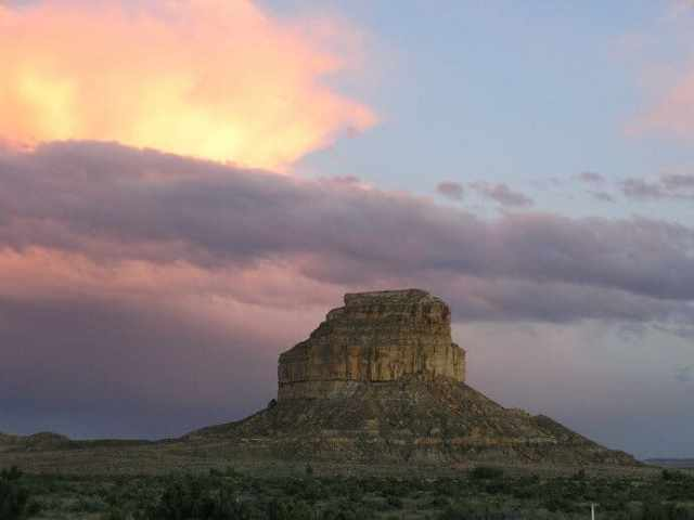 Chaco Culture National Historical Park is a UNESCO World Heritage Site for its cultural significance to the Pueblo people