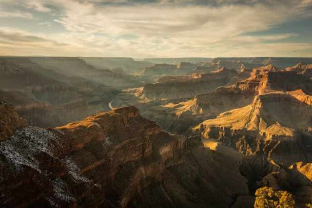 Stunning vista of the natural beauty of Grand Canyon National Park, which led to it becoming a UNESCO site