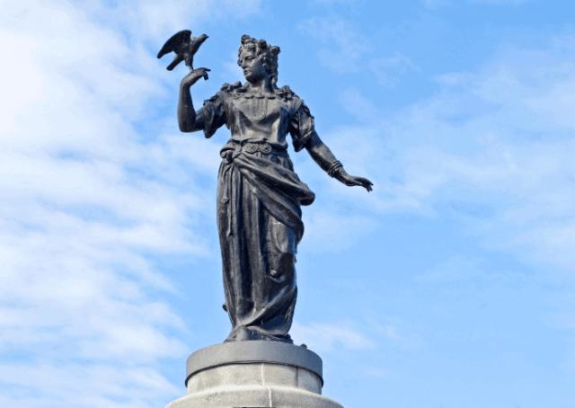 Statue of Norse Goddess Freyja