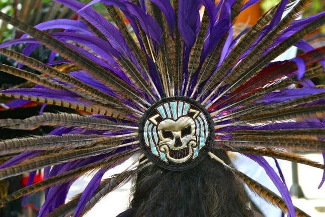 Mayan Dancer's Headdress in Tulum, Mexico