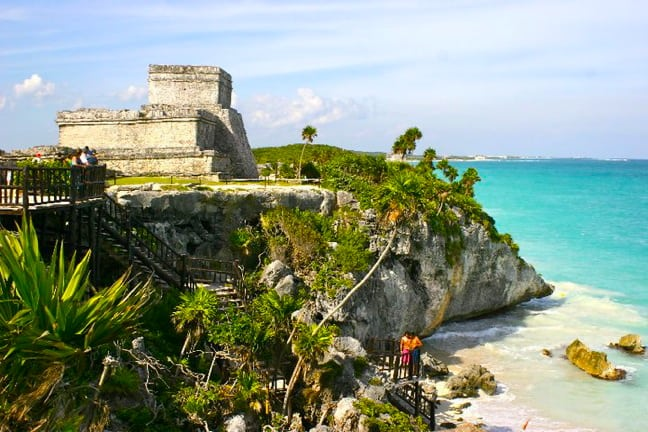 The Ruins of El Castillo in Tulum, Mexico