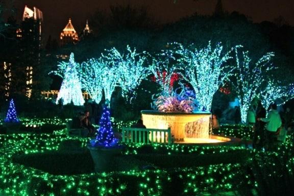 Atlanta Botanical Gardens Garden Lights Holiday Nights