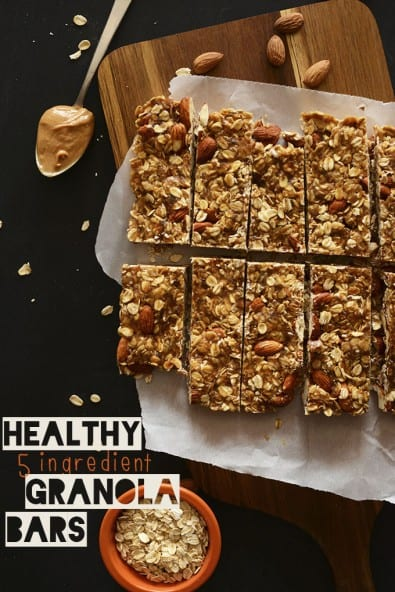 5-Ingredient (No Bake) Granola Bar by MinimalistBaker.com