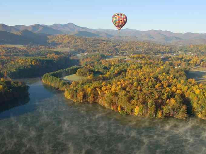 Hot Air Balloon Ride Over Asheville, photo courtesy ExploreAsheville.com