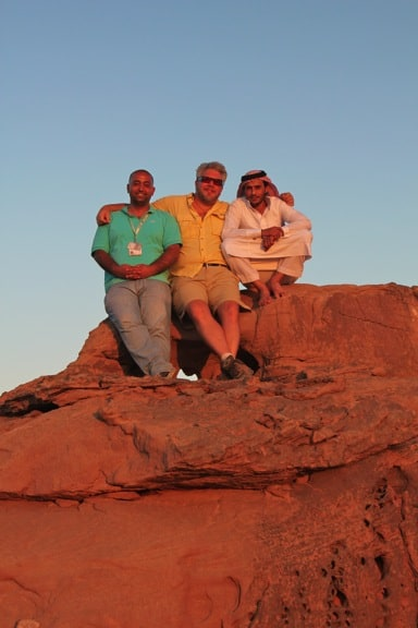 Sunset in the desert of Wadi Rum, Jordan